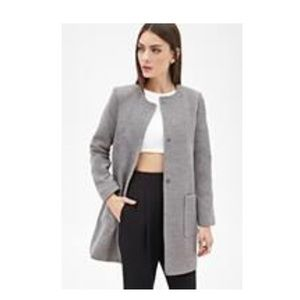 NWT Forever 21 Mod Collarless Shift Coat Sz S